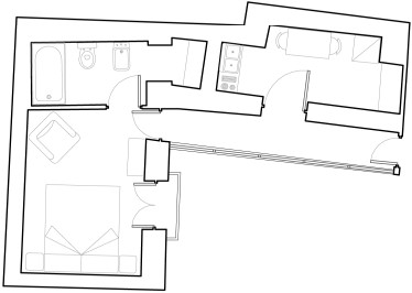 Butera 28 Apartments: Floor plan - Apt. 7