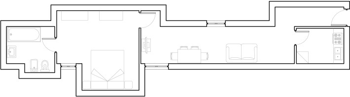 Butera 28 Apartments: Floor plan - Apt. 8